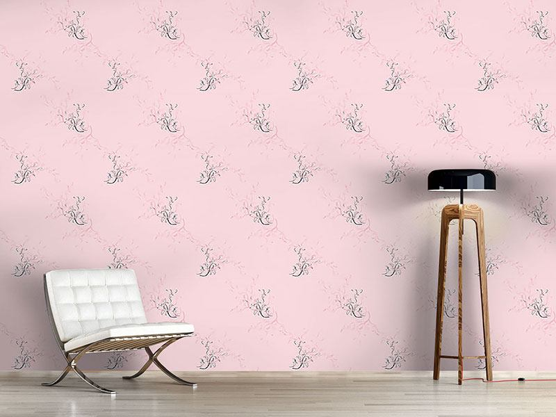 Design Wallpaper Flower Dreams In Rose