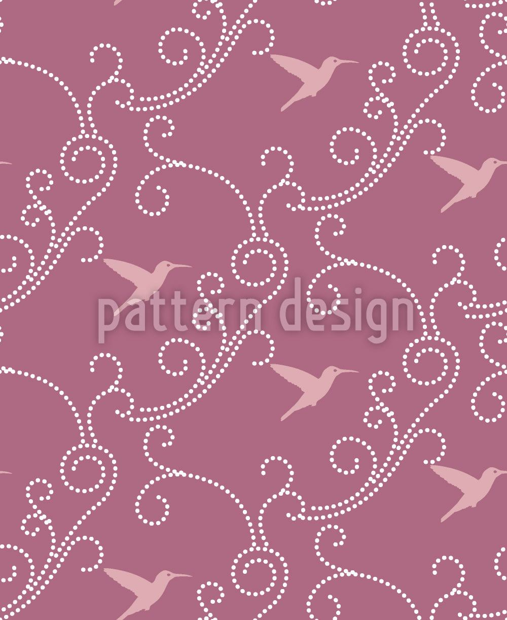Design Wallpaper Lavender Hummingbird