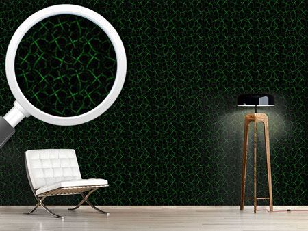 Design Wallpaper Shamrock Silhouettes