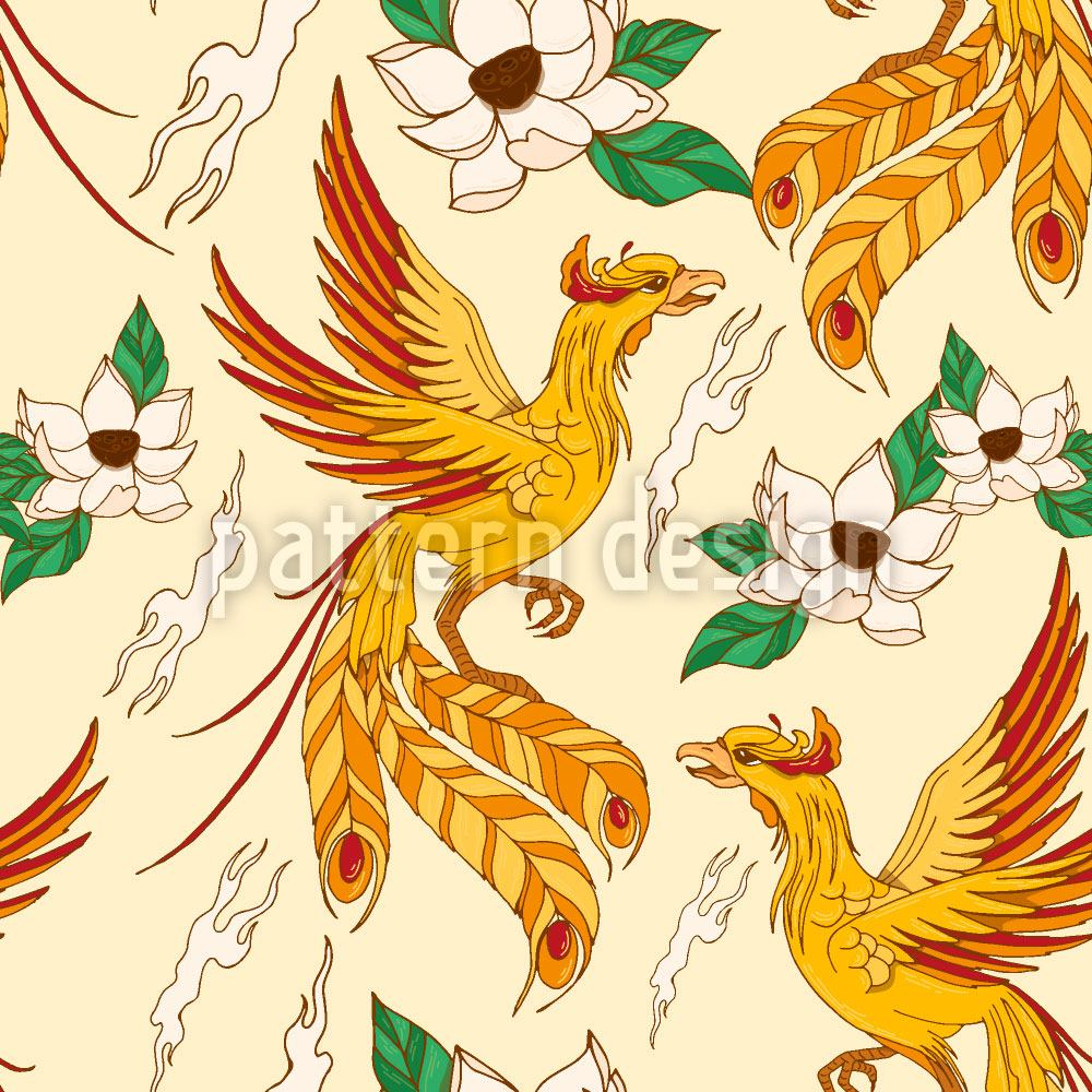 Design Wallpaper Phoenix And Lotus