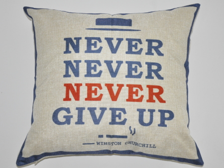 Housse de coussin Never Give Up
