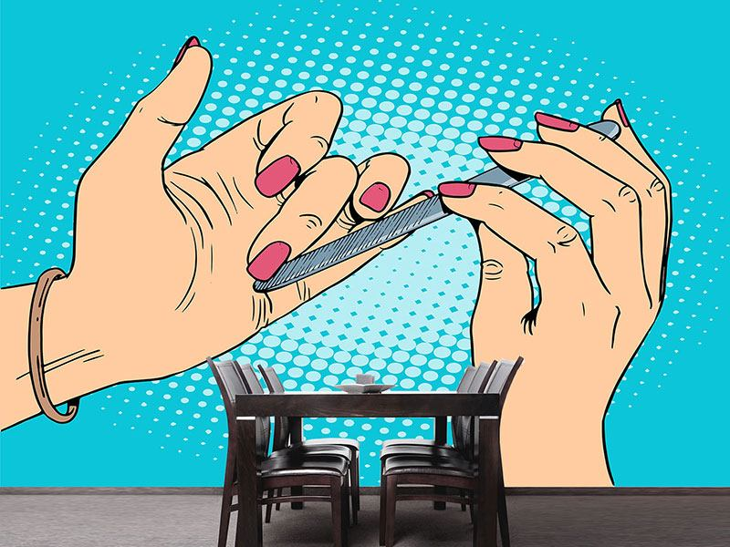 Photo Wallpaper Pop Art Nails