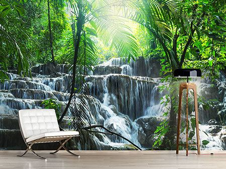 Photo Wallpaper Waterfall Agua Azul